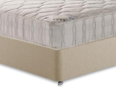 Shire Beds Shire Quilt 4 6 Double Mattress with Executive Sandstone Double 4 Drawer Divan Set