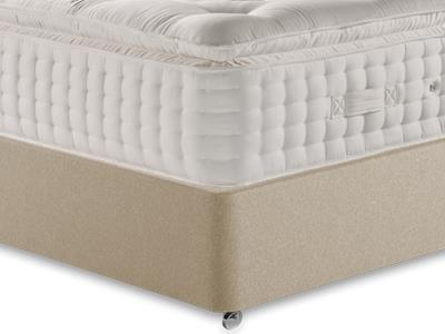 Relyon Valencia 4 6 Double Mattress Only Mattress with Executive Sandstone Double 4 Drawer Divan Set