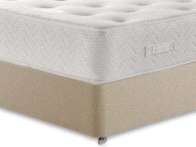 Healthopaedic Billionaire Ortho 2017 4 Small Double Mattress with Executive Sandstone Small Double 4 Drawer Divan Set