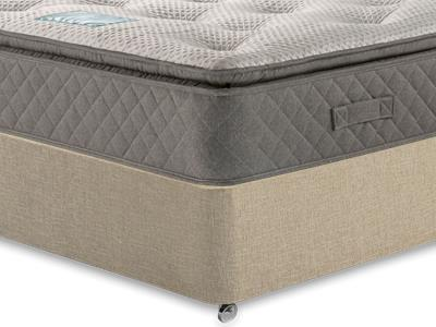 Restopaedic Restapillow 1200 3 Single Mattress Only Mattress with Classic Mink Single Slide Store Divan Set