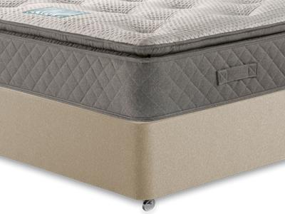 Restopaedic Restapillow 1200 4 6 Double Mattress Only Mattress with Executive Sandstone Double 4 Drawer Divan Set