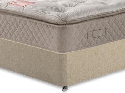 Restopaedic Restapillow 1400 3 Single Mattress Only Mattress with Classic Mink Single Slide Store Divan Set