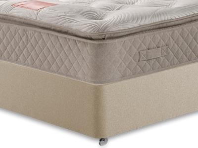 Restopaedic Restapillow 1400 4 6 Double Mattress Only Mattress with Executive Sandstone Double 4 Drawer Divan Set