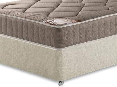 Snuggle Beds Snuggle Damask Quilt 2016 4 Small Double Mattress Only Mattress with Executive Barley Small Double 0 Drawer Divan Set