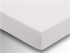 Plain Dye Fitted Sheet - Ivory