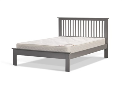 Snuggle Beds Ashurst Grey 4 6 Double Low Foot End Wooden Bed