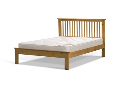 Snuggle Beds Ashurst Oak 4 6 Double Low Foot End Wooden Bed