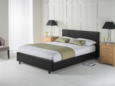 Snuggle Beds Vogue Black 5 King Size Leather Bed