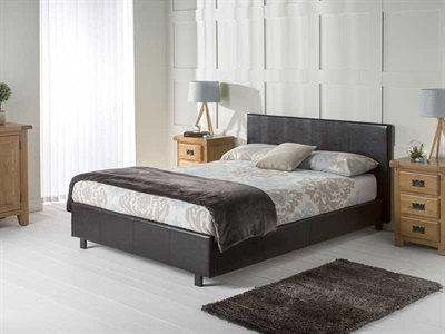 Snuggle Beds Vogue Brown 3' Single Leather Bed