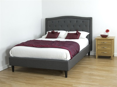 Snuggle Beds Charlotte Charcoal 4 6 Double Fabric Bed