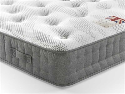British Bed Company Cotton Pocket 1400 Chenille Pocket Sprung Mattress