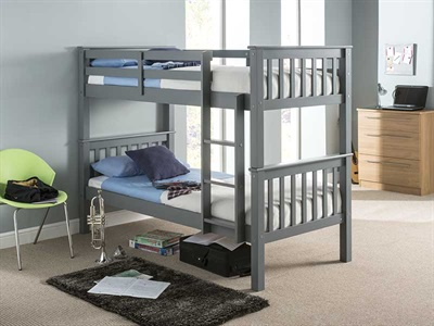 Snuggle Beds Montana Bunk Grey 3 Single Bunk Bed