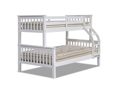 Snuggle Beds  Montana Triple Sleeper 4 Small Double White Triple Sleeper Only Bunk Bed