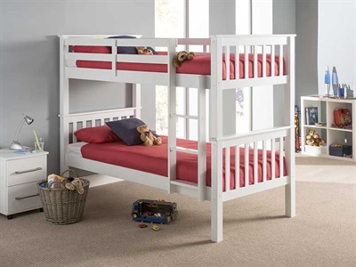 Snuggle Beds Montana Bunk White 3 Single Bunk Bed