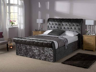 Snuggle Beds Orbiter Black Ottoman 4 6 Double Ottoman Bed