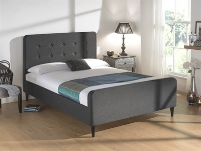 Snuggle Beds Sienna Dark Grey 4 6 Double Dark Grey Fabric Bed