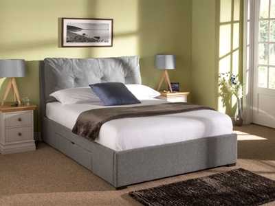 Snuggle Beds Comfy 4 6 Double 2 Drawer Fabric Bed