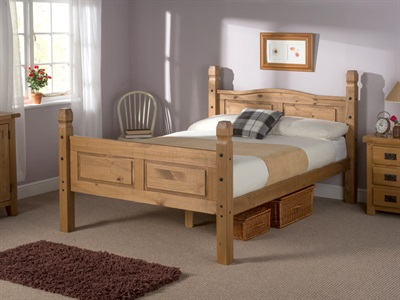 Snuggle Beds Corona - Antique Pine 4 6 Double Wooden Bed