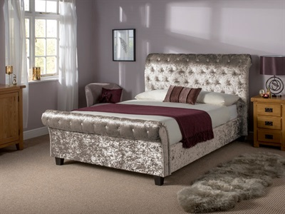 Snuggle Beds Orbiter Taupe 4 6 Double Fabric Bed