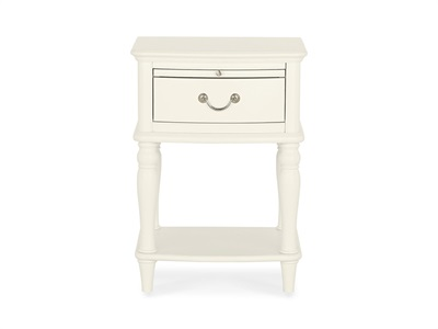 Bentley Designs Bordeaux 1 Drawer Nightstand Ivory Bedside Chest