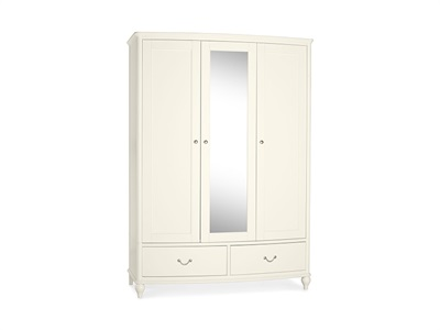 Bentley Designs Bordeaux Triple Wardrobe Ivory Wardrobe