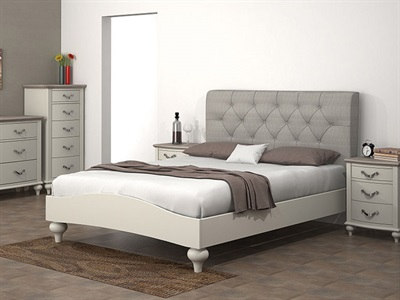 Bentley Designs Montreux Upholstered Bed - Diamond Stitch 4 6 Double Soft Grey Fabric Bed