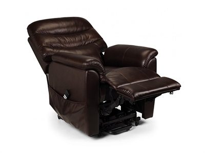 Product photograph showing Pullman Leather Dual Motor Rise And Recline Chair