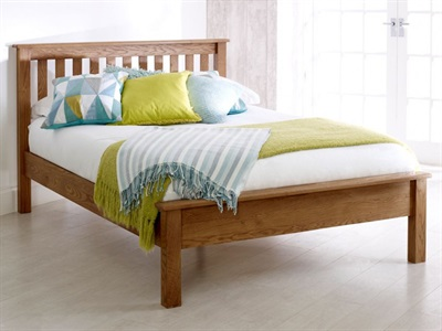 Birlea Malvern (Low Foot End) 4 6 Double Wooden Bed