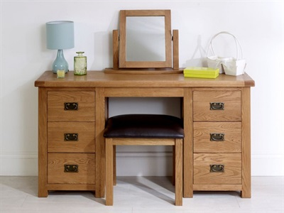 Birlea Malvern Double Dressing Table Without Stool and Mirror Dressing Table