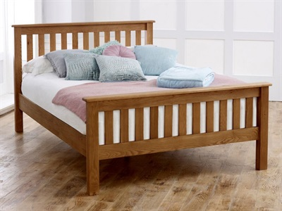 Birlea Malvern (High Foot End) 4 6 Double Wooden Bed