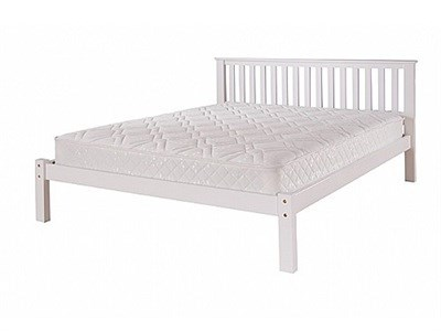 AirSprung Napoli Low Foot End 3 Single White Wooden Bed