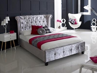 Limelight Epsilon Crushed Ice 5 King Size Fabric Bed