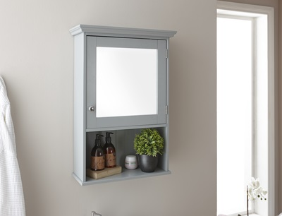 Product photograph showing Colonial Mirrored Cabinet