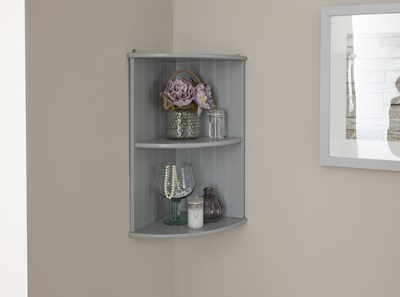 Product photograph showing Colonial Corner Wall Shelf Unit