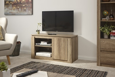 Product photograph showing Canyon Oak Compact Tv Unit