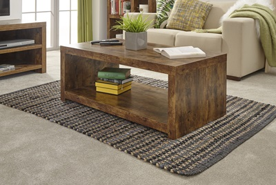 Product photograph showing Jakarta Coffee Table With Shelf