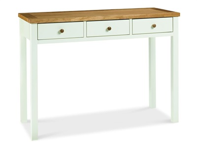 Bentley Designs Atlanta Two Tone Dressing Table Oak and White Flat Packed Dressing Table