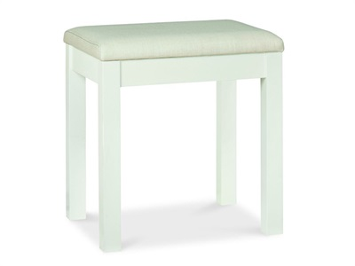 Bentley Designs Atlanta White Stool  White One Seater Stool
