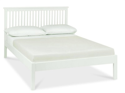 Bentley Designs Atlanta White - Low Foot End 3 Single White Slatted Bedstead Wooden Bed