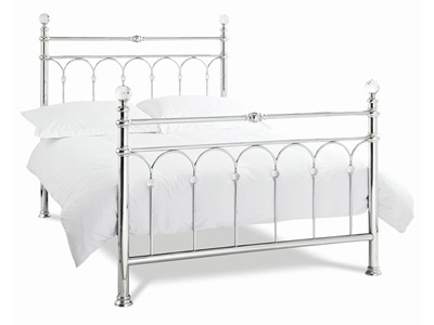 Bentley Designs Krystal Chrome 3 Single Chrome Slatted Bedstead Metal Bed