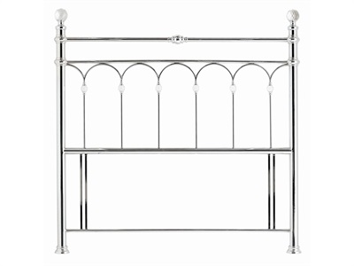 Bentley Designs Krystal Shiny Chrome 3 Single Chrome Headboard Only Metal Headboard