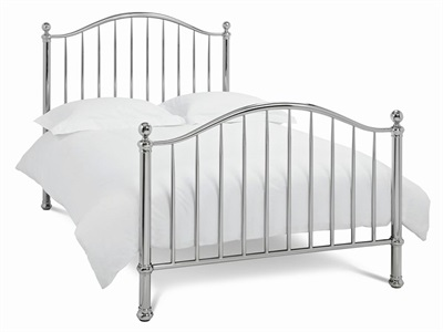Bentley Designs Sabina 4 6 Double Nickel Slatted Bedstead Metal Bed