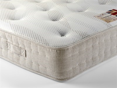British Bed Company Cotton Pocket 1200 Chenille 4 6 Double