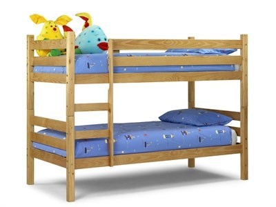 Julian Bowen Wyoming Bunk 3 Single Natural Bunk Bed