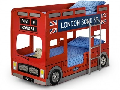 Julian Bowen London Bus Bunk Bed 3 Single Bunk Bed Bunk Bed