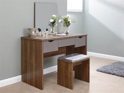 GFW Elizabeth Dressing Table Set Walnut Dressing Table