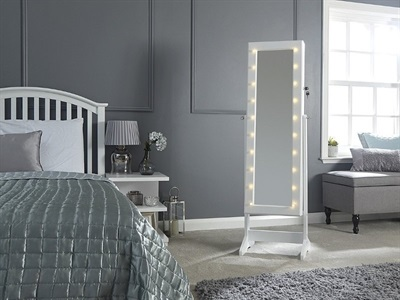 GFW Amore Jewellery Storage Mirror with LEDS Mirror