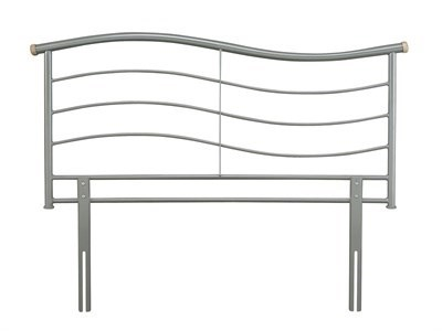 Serene Furnishings Waverly 3 Single Silver Metal Headboard