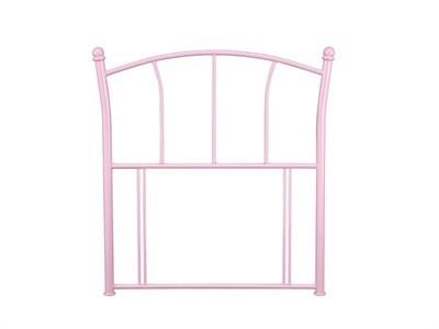 Serene Furnishings Penny Pink 3 Single Glossy Pink Metal Headboard