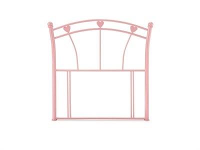 Serene Furnishings Jemima 3 Single Glossy Pink Metal Headboard